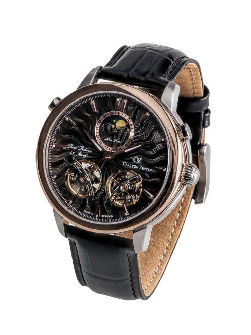 Carl von Zeyten FORBACH 0056BK zegarek z dwoma kołami balansowymi