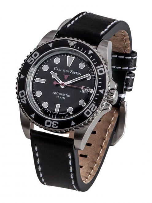 Carl von Zeyten NO. 30 0030BK, zegarek sportowy, wodoszczelność 10 ATM