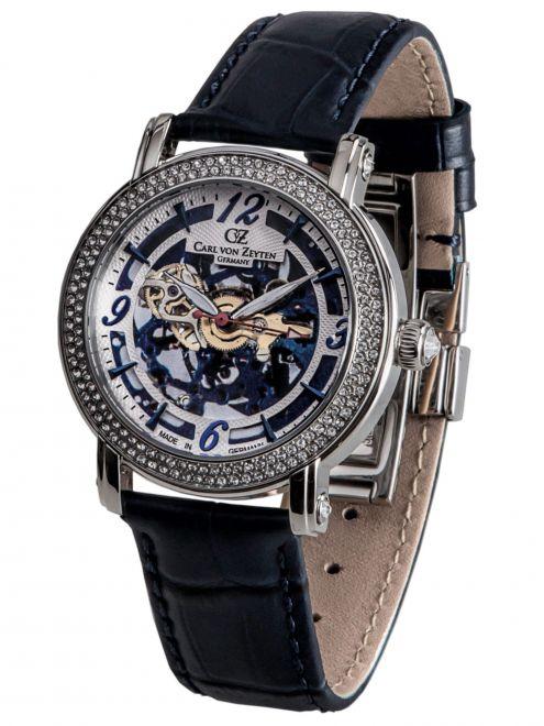 Carl von Zeyten WOLFACH 0061BL zegarek skeleton damski